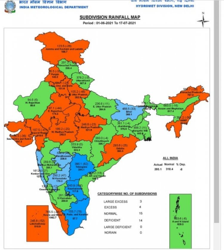 Weak monsoon leads to reduction in Kharif area by 80 lakh hectares; big drop in pulses and oilseeds causes inflation fears