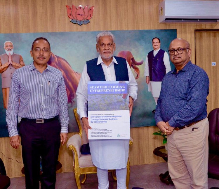 Rupala releases 'Seaweed Farming Entrepreneurship by Cooperatives' booklet