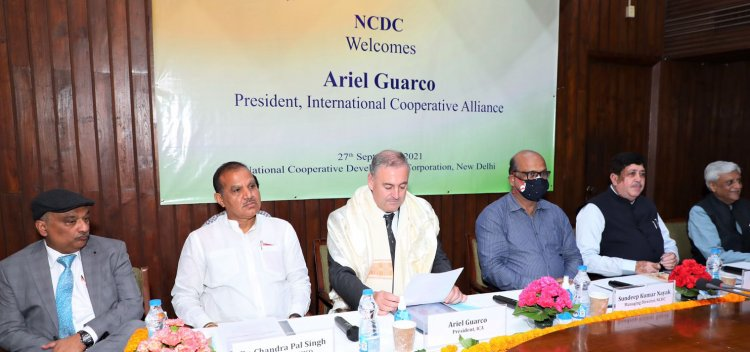 Cooperatives in India can lead the world: ICA President Dr Ariel Guarco at NCDC